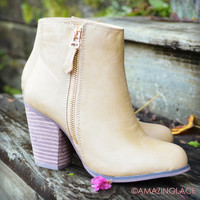 Lost Creek Taupe Leather Booties