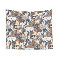 'Pupper Party' Wall Tapestry by missdaisydee