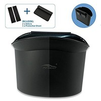 AMEIQ Car Trash Can, Plastic Garbage Bin, Absolutely Best Waste Rubbish Litter Container for Vehicle Office Study Room