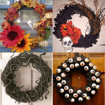 Fall/ Halloween Wreath Decoration