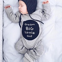 Infant Clothes Baby Boy Girl Cotton Romper born Letter Print Long Sleeve Jumpsuit Toddlers Kids Clothing