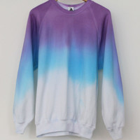 ANDCLOTHING — Lavender Blue Dip Dye Sweater SOLD OUT