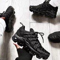 Nike Air Vapormax Plus Woman Men Fashion Running Sport Leisure Shoes Sneakers Black