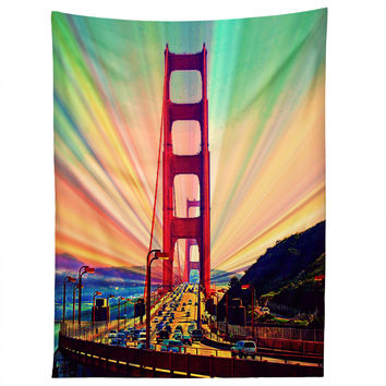 Shannon Clark Colorful Commute Tapestry