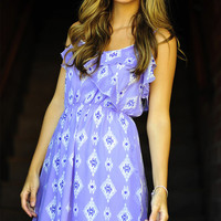 Diamond Craze Dress: Lavender | Hope's