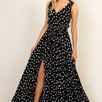 Polka Dot Goddess Maxi Dress