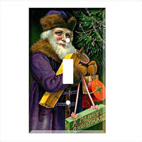 Light Switch Cover - Light Switch Plate Christmas Greetings Santa