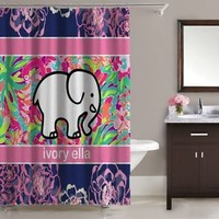 """Most Special Ivory Ella Pattern Floral Flamingo Shower Curtain 60""""x72"""" Print On"""