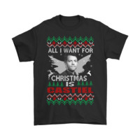 PEAP8HB All I Want For Christmas Is Castiel Supernatural Shirts