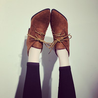 Hot Deal On Sale Winter Pointed Toe With Heel Matte Korean Stylish Boots [7439814017]