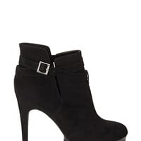 Ridged Ankle Strap Booties