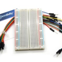 microtivity IB401 400-point Experiment Breadboard w/ Jumper Wires