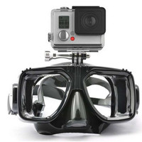 underwater diving mask for gopro hero camera accessories, tempered glass lens adult diving for Hero1/2/3+/4