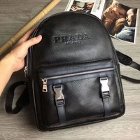 PRADA MEN'S HOT STYLE LEATHER BACKPACK BAG