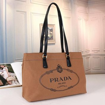 Prada Fashion new zipper tote bag Fashion lady one-shoulder messenger bag