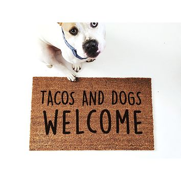 Tacos & Dogs Welcome Doormat