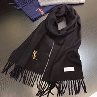 YSL Women Smooth Cashmere Warm Winter Cape Scarf Scarves