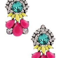 Nathalia Statement Stud Earrings in Fuschia