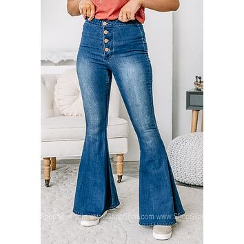 Let's Go Girls High Rise Flare Jeans