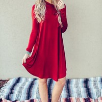 Bow Tied Holiday Swing Dress
