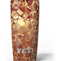 Orange Geometric V5 Yeti Rambler Skin Kit