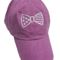 Ladies 'American Flag Bow' Baseball Hat