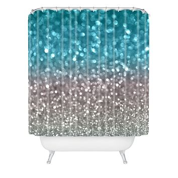 Lisa Argyropoulos Aqua And Gray Shower Curtain
