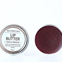 red LIP TINT. 100% natural lip balm / lip stain / lip cream - cherry blossom
