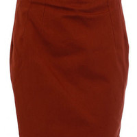 Brick belted pencil skirt - View All - New In - Dorothy Perkins
