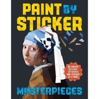 Paint by sticker masterpieces: re-create 12 iconic artworks one sticker at a time! - Walmart.com