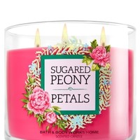 3-Wick Candle Sugared Peony Petals