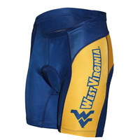 West Virginia Mountaineers NCAA Flat Seam Cycling Shorts (Small)