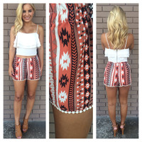Walk in the Desert Rust Shorts