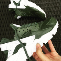 Khaki Nike Air Huarache Army custom.