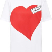 Ladies Heart Graphic Print T-Shirt by Prada