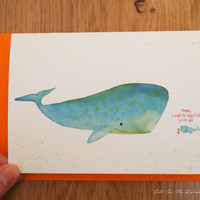 Mothers day card Birthday card for mom Mother's Day Gifts, Whales Mommy and Baby