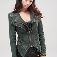 Studded power shoulder jacket