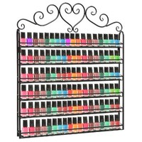 MyGift Metal Nail Polish Mountable 6 Tier Organizer Display Rack, Black