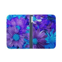 Purple N Turquoise Daisies Kindle Folio Case from Zazzle.com