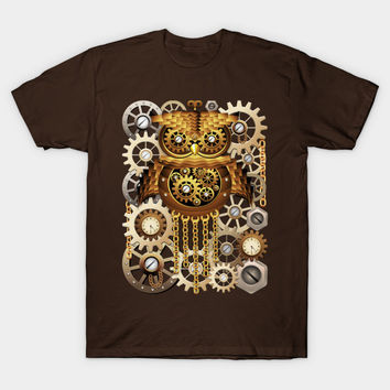 SOLD! Thank You! Steampunk Owl Vintage Style T-Shirts