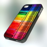 PB0313 Melting Crayon Design For IPhone 4 or 4S Case / Cover