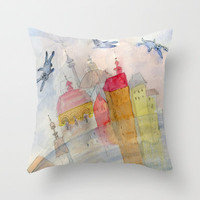 foggy morning Throw Pillow by Marianna Tankelevich
