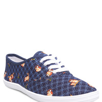 Owl Print Tennis Shoes | Wet Seal