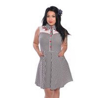 Lydia Gingham Butterfly Western Dress