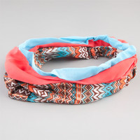 Full Tilt 3 Piece Ethnic/Coral/Turquoise Headbands Coral One Size For Women 24238031301