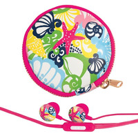 Lilly Pulitzer Earbuds and Pouch - Chiquita Bonita