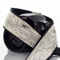 Map Camera Strap, dSLR, SLR, Airplane, Mirrorless, Camera Neck Strap, Canon camera strap, Nikon camera strap, Men's, Women's, 255