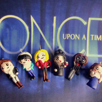 Once Upon A Time Polymer Clay Charm Emma Swan, Snow White, Charming, Rumplestiltskin, Belle, Evil Queen Regina, Henry, Red Riding Hood