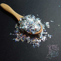 "Holo ""Mylar of Thousands"" solvent resistant holographic glitter, nail art, UV resin, rainbow"