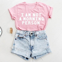Fashion Pink Short Sleeve Letters T-Shirt